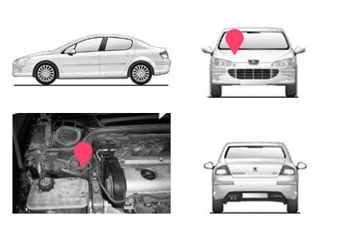 Ubicacion bastidor Peugeot 407 coupe