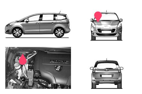 Ubicacion bastidor Peugeot 5008