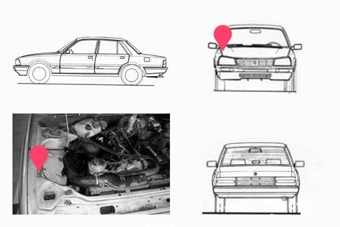 Ubicacion bastidor Peugeot 505