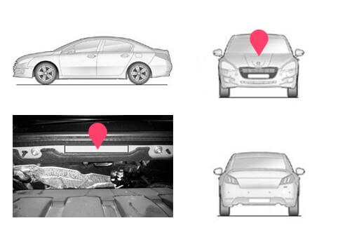 Ubicacion bastidor Peugeot 508