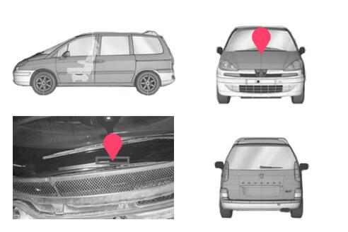 Ubicacion bastidor Peugeot 807