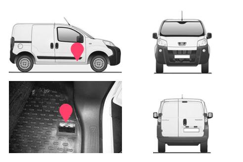 Ubicacion bastidor Peugeot Bipper