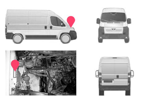 Ubicacion bastidor Peugeot Expert primera generacion