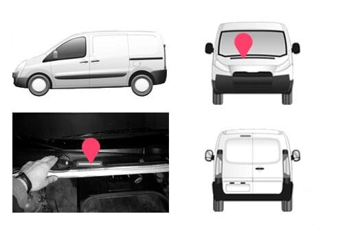 Ubicacion bastidor Peugeot Expert segunda generacion