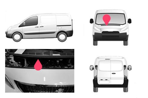 Ubicacion bastidor Peugeot Expert tercera generacion