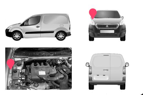 Ubicacion bastidor Peugeot Partner primera generacion