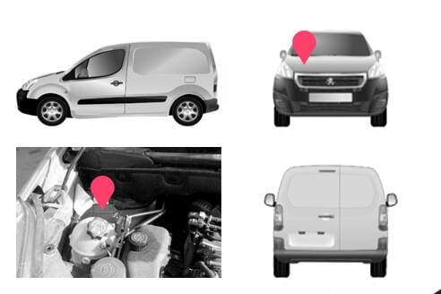 Ubicacion bastidor Peugeot Partner segunda generacion
