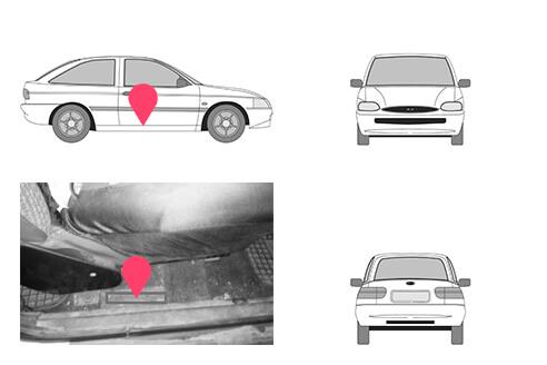 Ubicacion bastidor ford escort tercera generacion