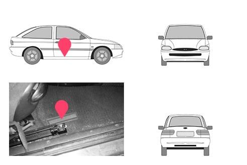Ubicacion bastidor ford escort cuarta generacion
