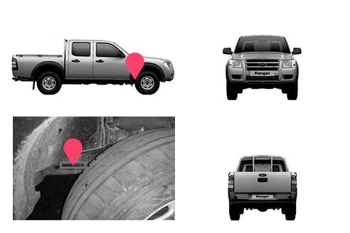 Ubicacion bastidor ford ranger cuarta generacion