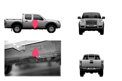 Ubicacion bastidor ford ranger quinta generacion