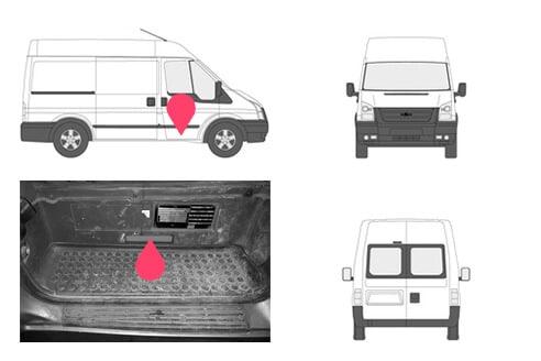 Ubicacion bastidor ford transit cuarta generacion