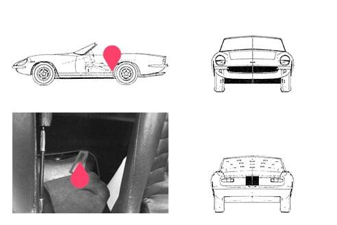 Ubicacion bastidor intermeccanica speedster