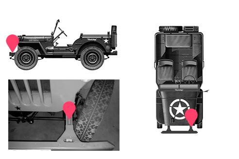Ubicacion bastidor jeep viasa