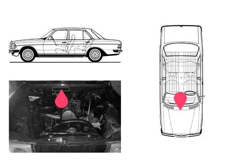 Ubicacion bastidor mercedes benz W123