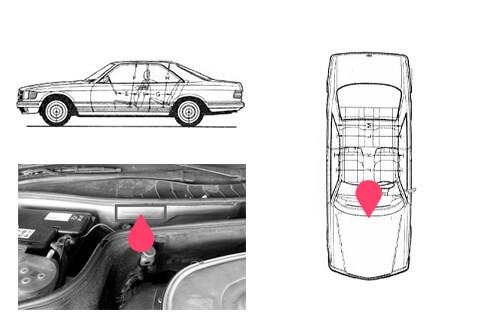 Ubicacion bastidor mercedes benz W126
