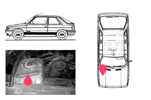 Ubicacion bastidor Renault 11