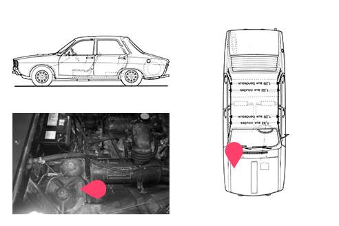 Ubicacion bastidor Renault 12