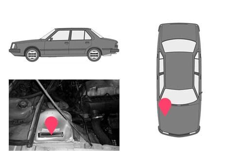 Ubicacion bastidor Renault 18