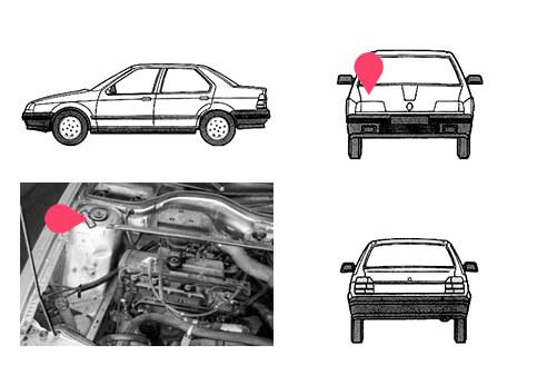 Ubicacion bastidor Renault 19