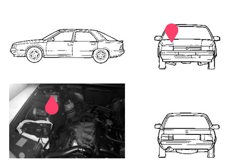 Ubicacion bastidor Renault 25