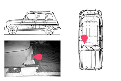 Ubicacion bastidor Renault 4
