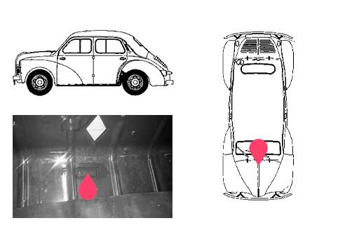 Ubicacion bastidor Renault 4 caballos