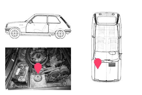 Ubicacion bastidor Renault 5