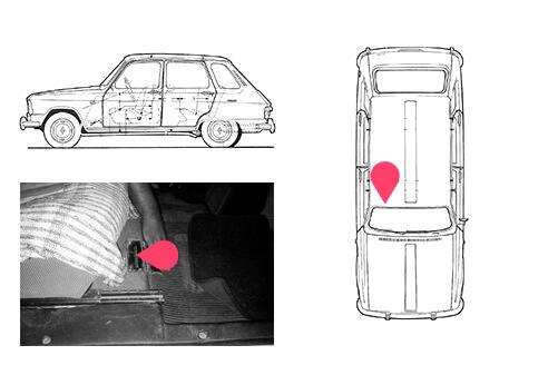 Ubicacion bastidor Renault 6