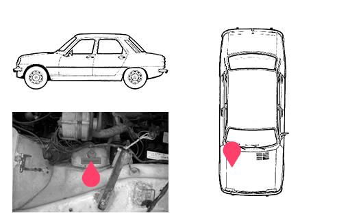 Ubicacion bastidor Renault 7