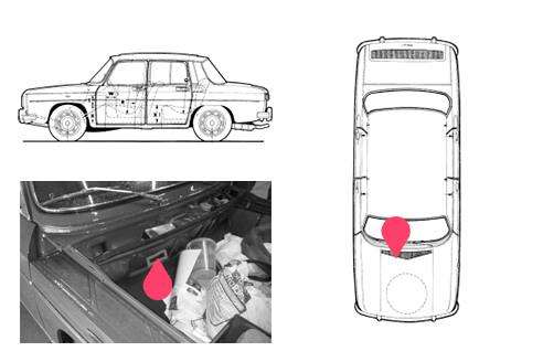 Ubicacion bastidor Renault 8