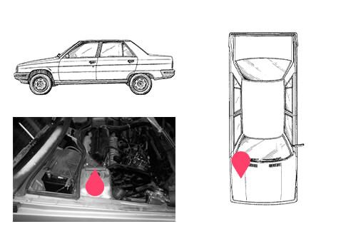 Ubicacion bastidor Renault 9