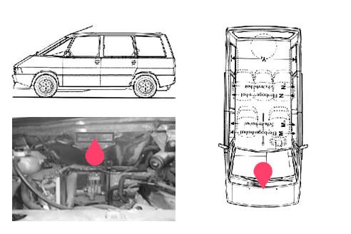 Ubicacion bastidor Renault espace 1gen