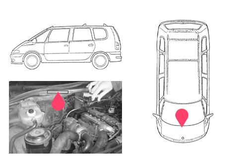 Ubicacion bastidor Renault espace 2gen