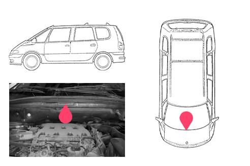 Ubicacion bastidor Renault espace 3gen