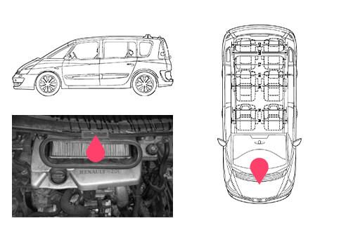 Ubicacion bastidor Renault espace 4gen