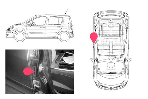Ubicacion bastidor Renault grand modus