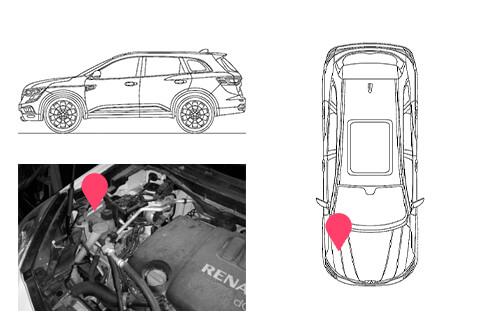 Ubicacion bastidor Renault koleos 1gen