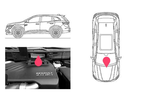 Ubicacion bastidor Renault koleos 2gen