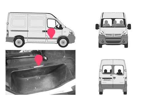 Ubicacion bastidor Renault master 2gen