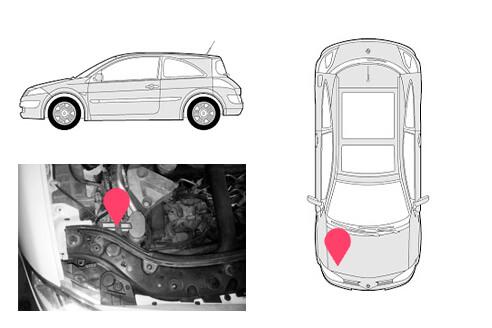 Ubicacion bastidor Renault megane 2gen