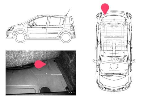 Ubicacion bastidor Renault modus 1gen