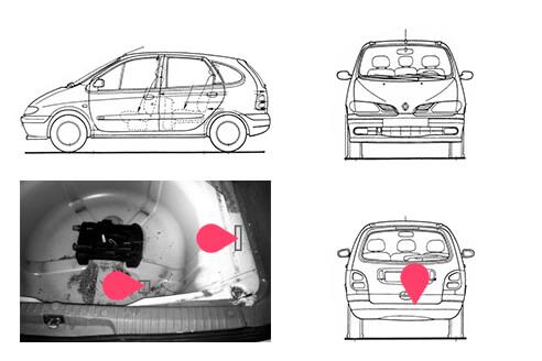 Ubicacion bastidor Renault scenic 1gen