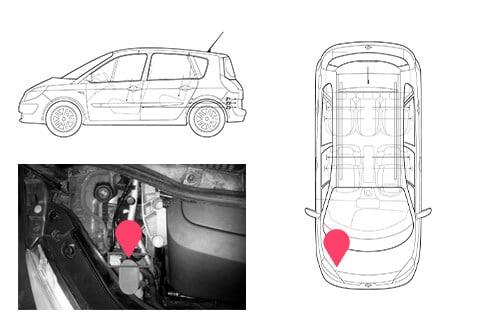 Ubicacion bastidor Renault scenic 2gen