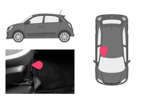 Ubicacion bastidor Renault twingo 3gen