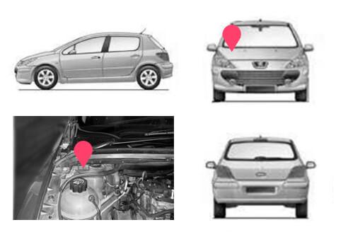 Ubicacion bastidor Peugeot 307