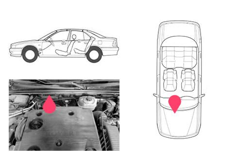 Ubicacion bastidor Rover serie 600