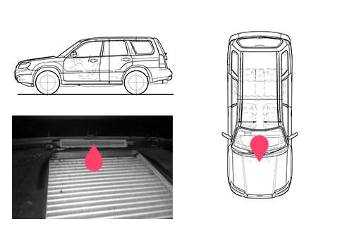 Ubicacion bastidor Subaru Forester 2gen