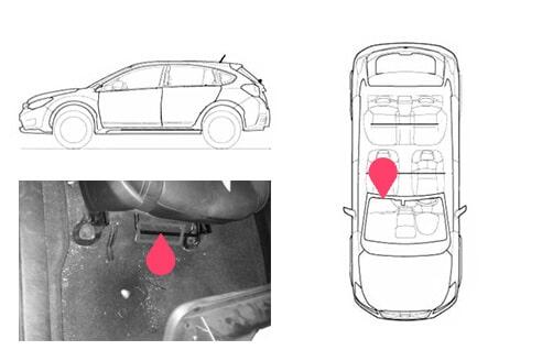 Ubicacion bastidor Subaru XV