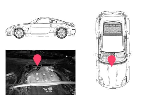 Ubicacion bastidor Nissan 350z